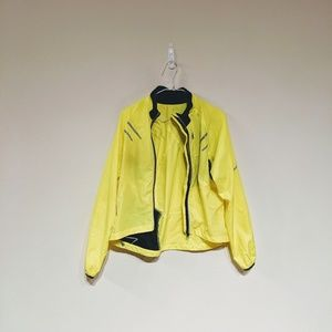 Sugoi neon yellow cycling windbreaker size S